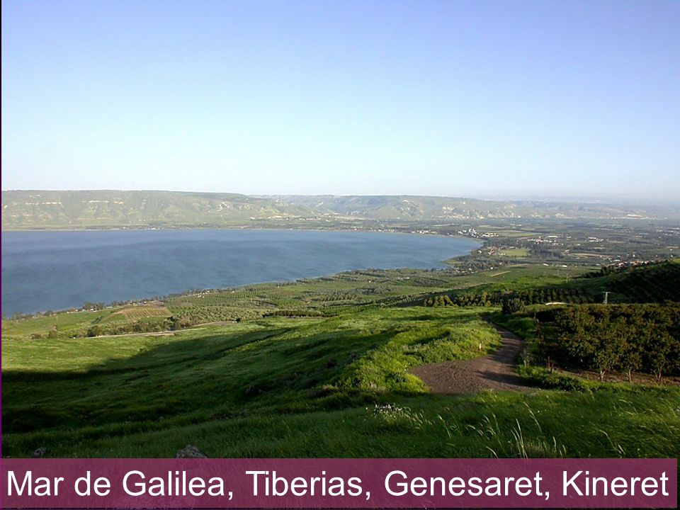Sea of Galilee southern end from west
