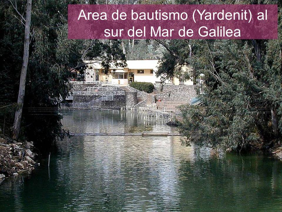 Area de bautismo (Yardenit) al sur del Mar de Galilea