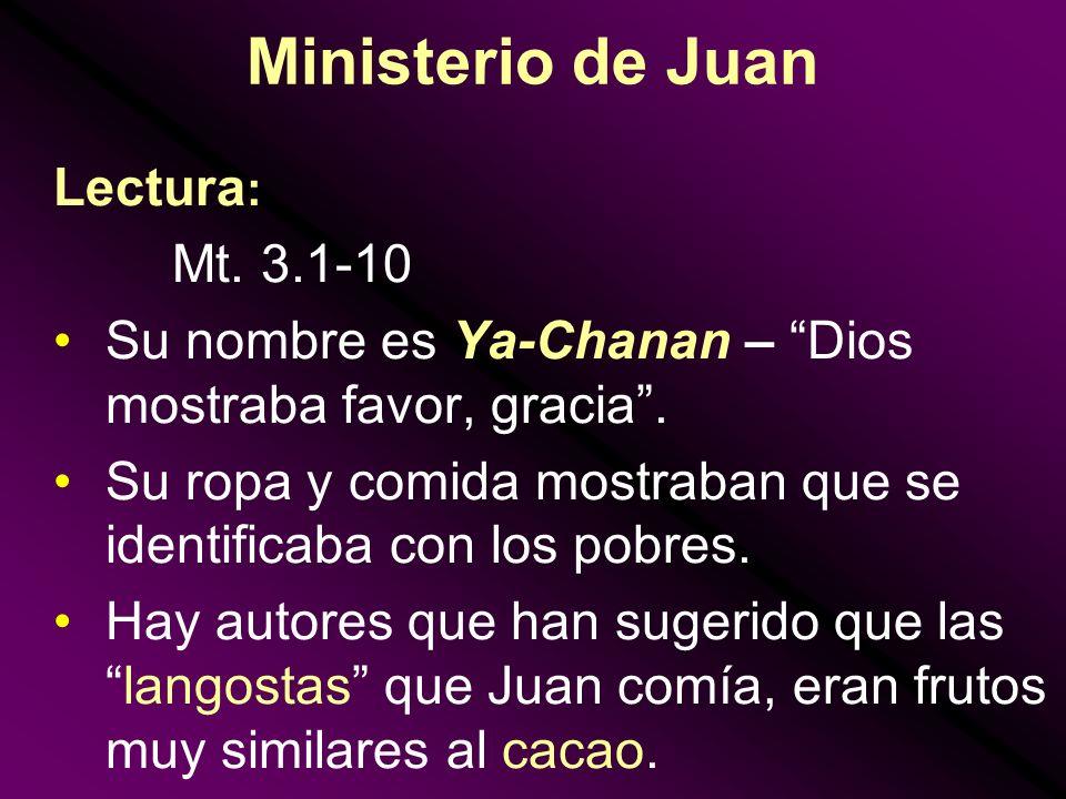 Ministerio de Juan Lectura: