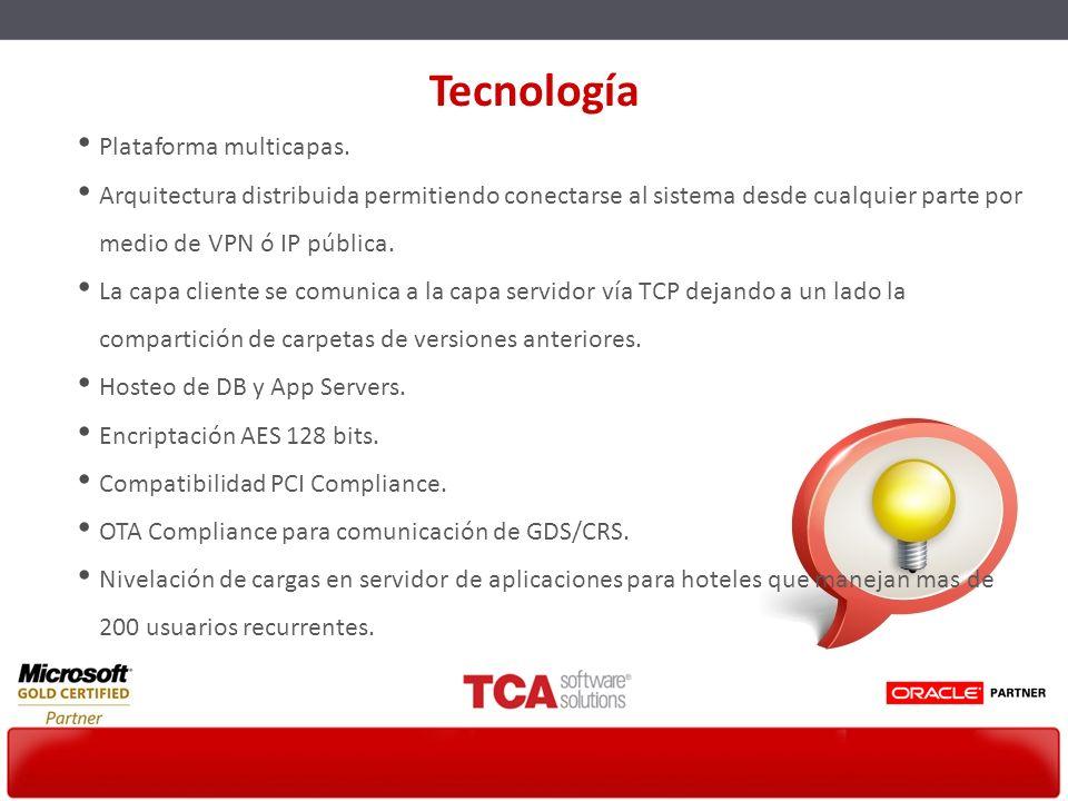 Tecnología Plataforma multicapas.
