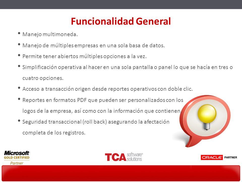 Funcionalidad General