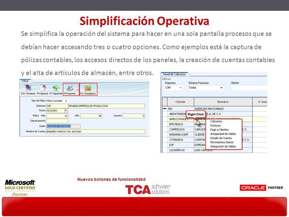 Simplificación Operativa