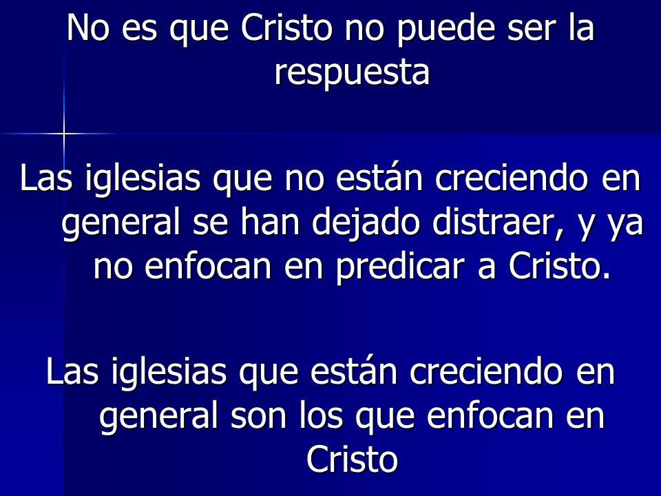 No es que Cristo no puede ser la respuesta