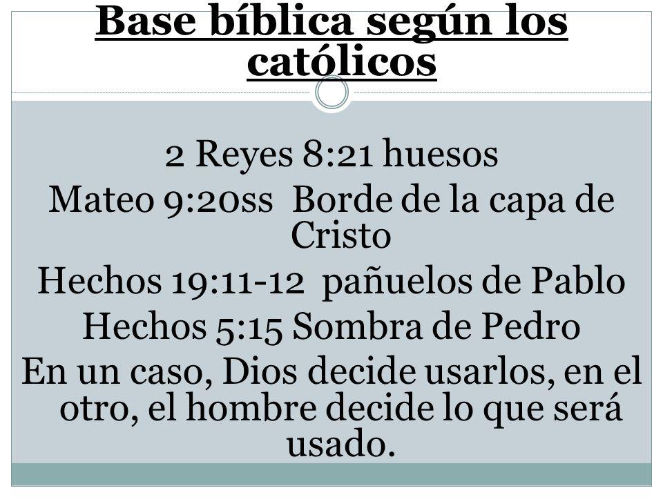 Base bíblica según los católicos