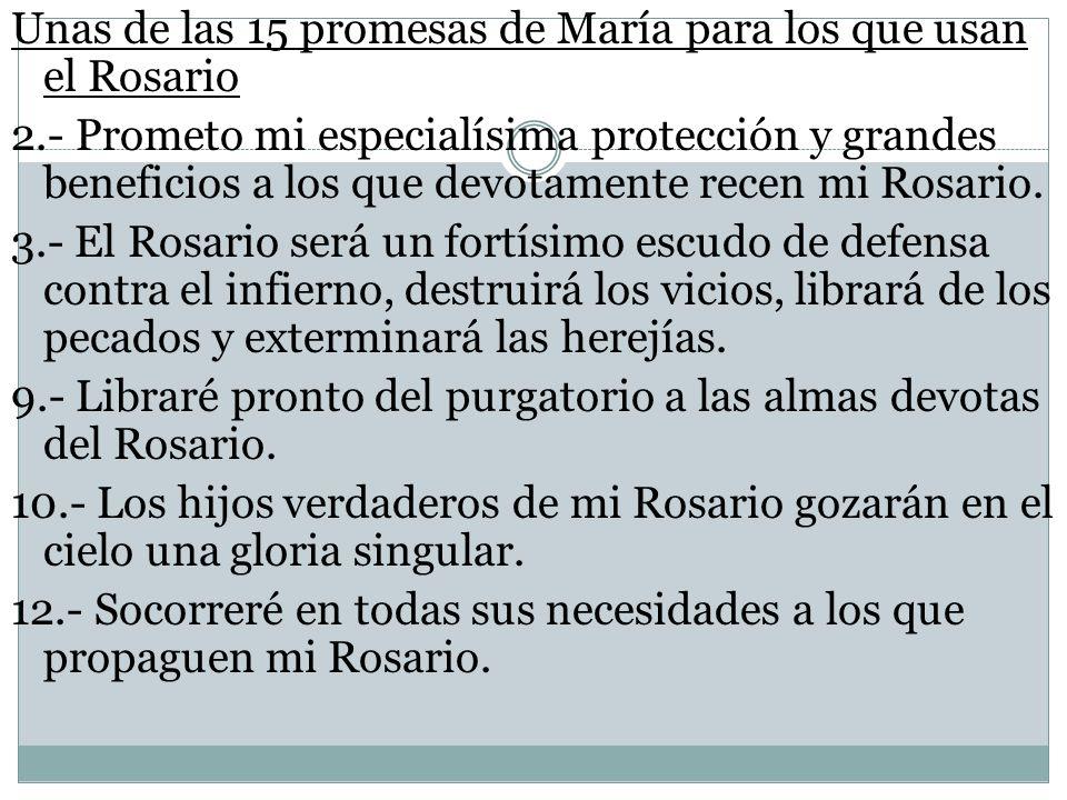 Unas de las 15 promesas de María para los que usan el Rosario 2