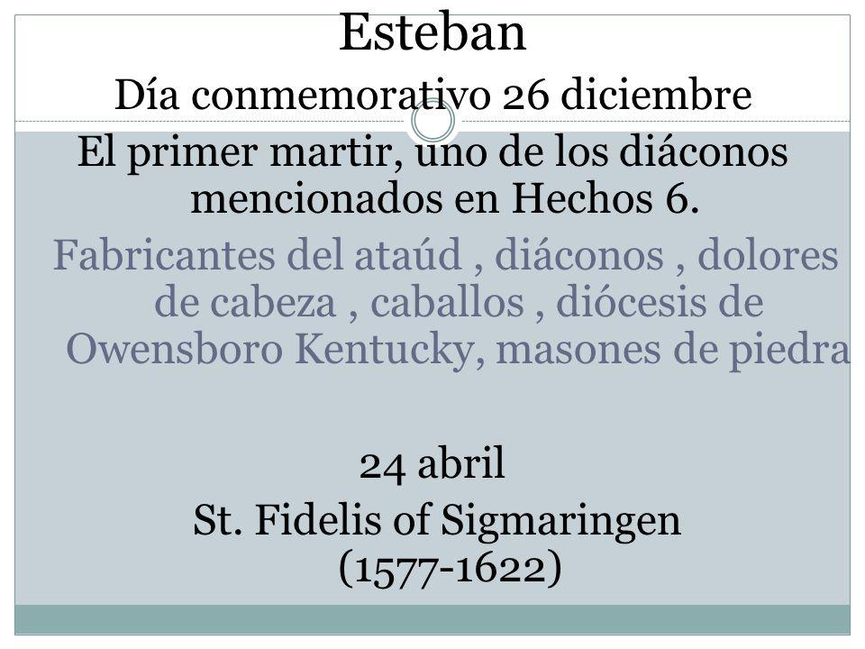 Esteban Día conmemorativo 26 diciembre
