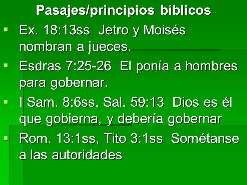 Pasajes/principios bíblicos