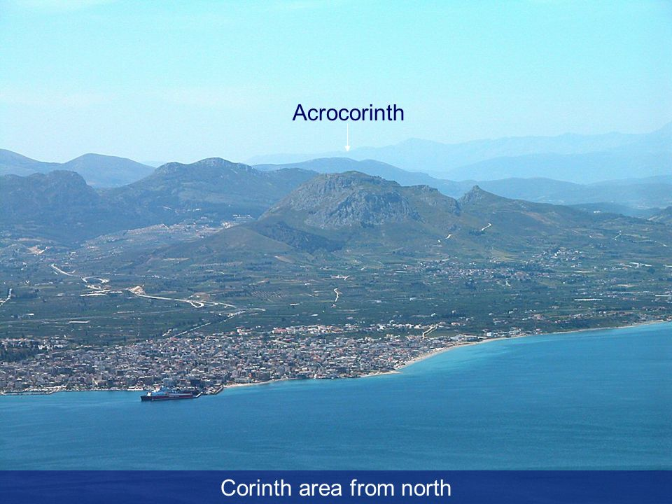 Corinth area from north