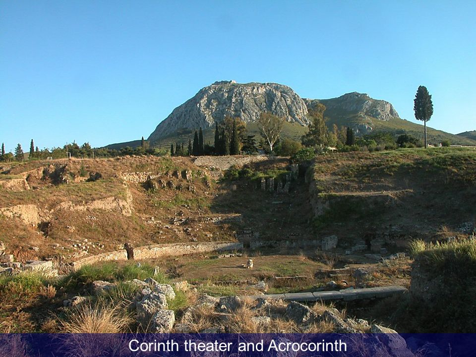 Corinth theater and Acrocorinth