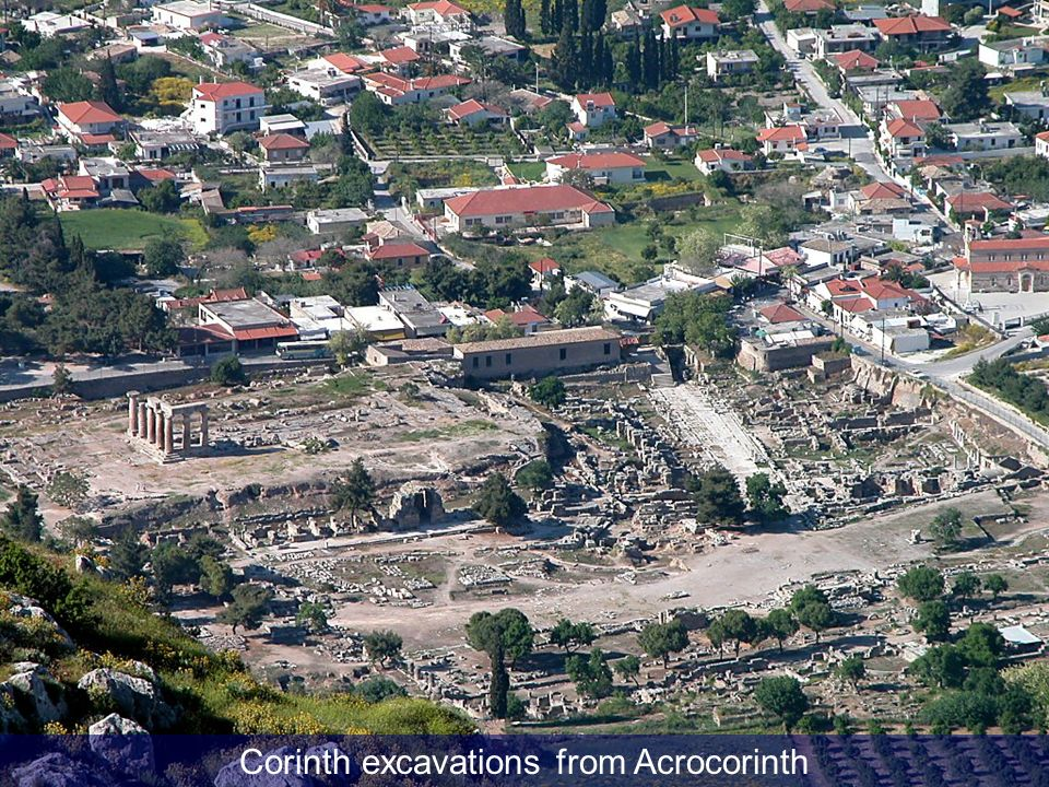 Corinth excavations from Acrocorinth