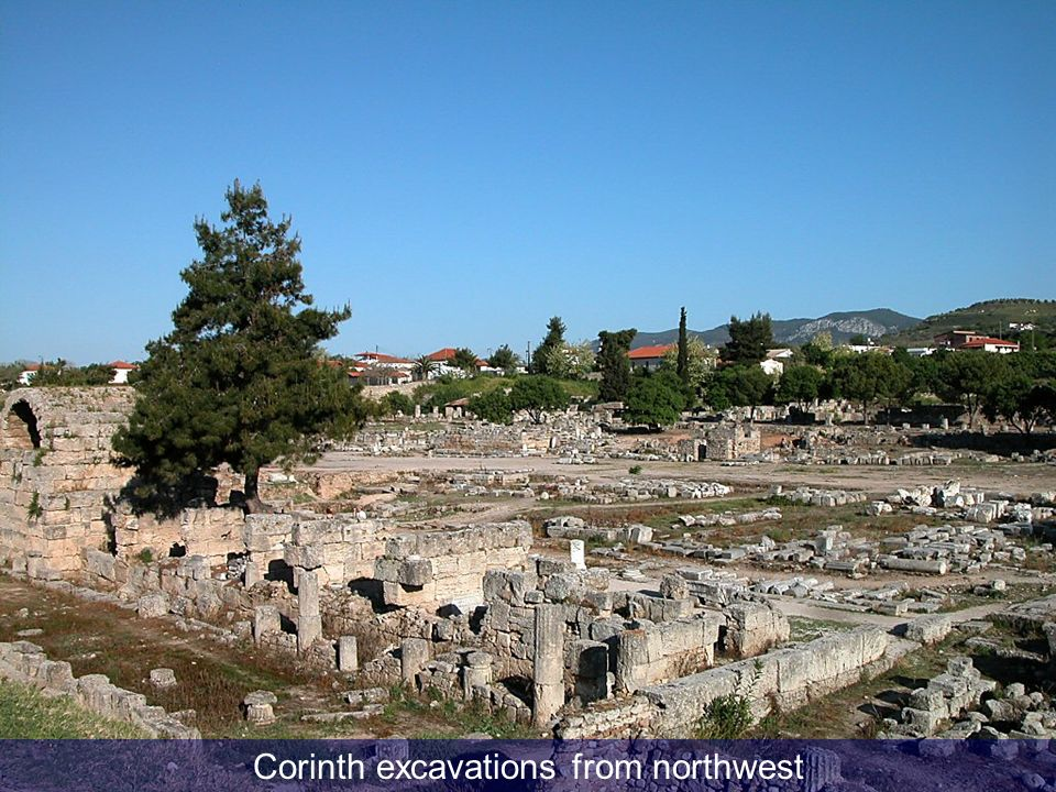 Corinth excavations from northwest
