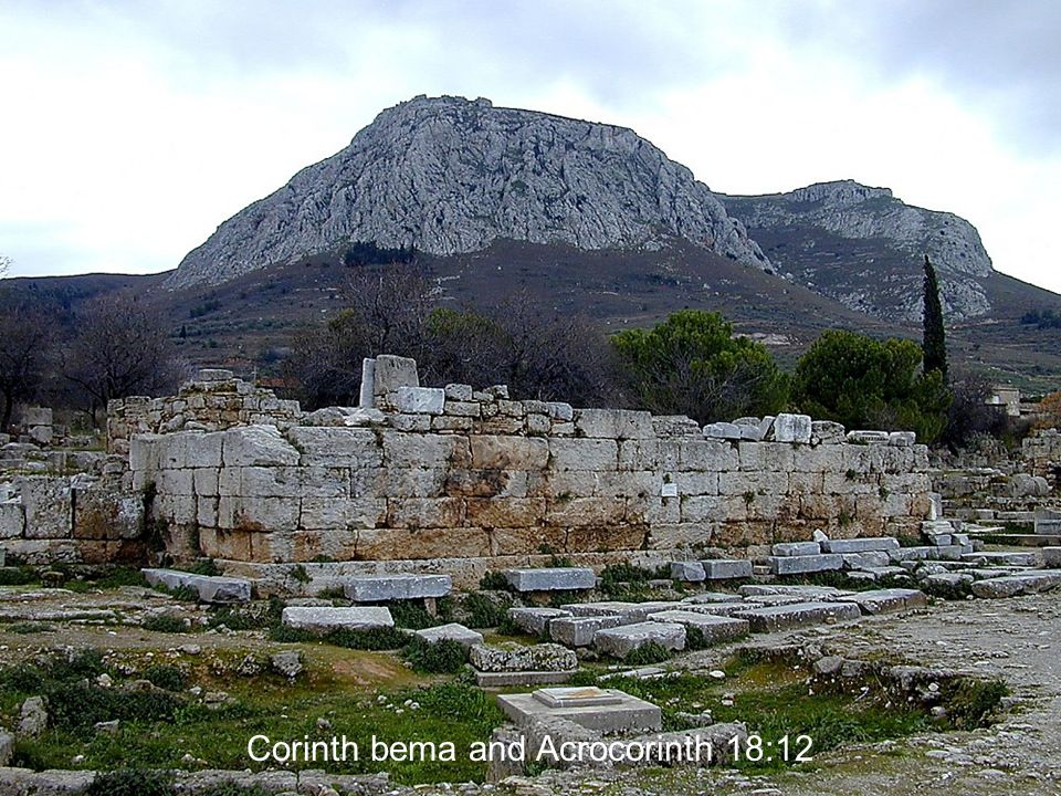 Corinth bema and Acrocorinth