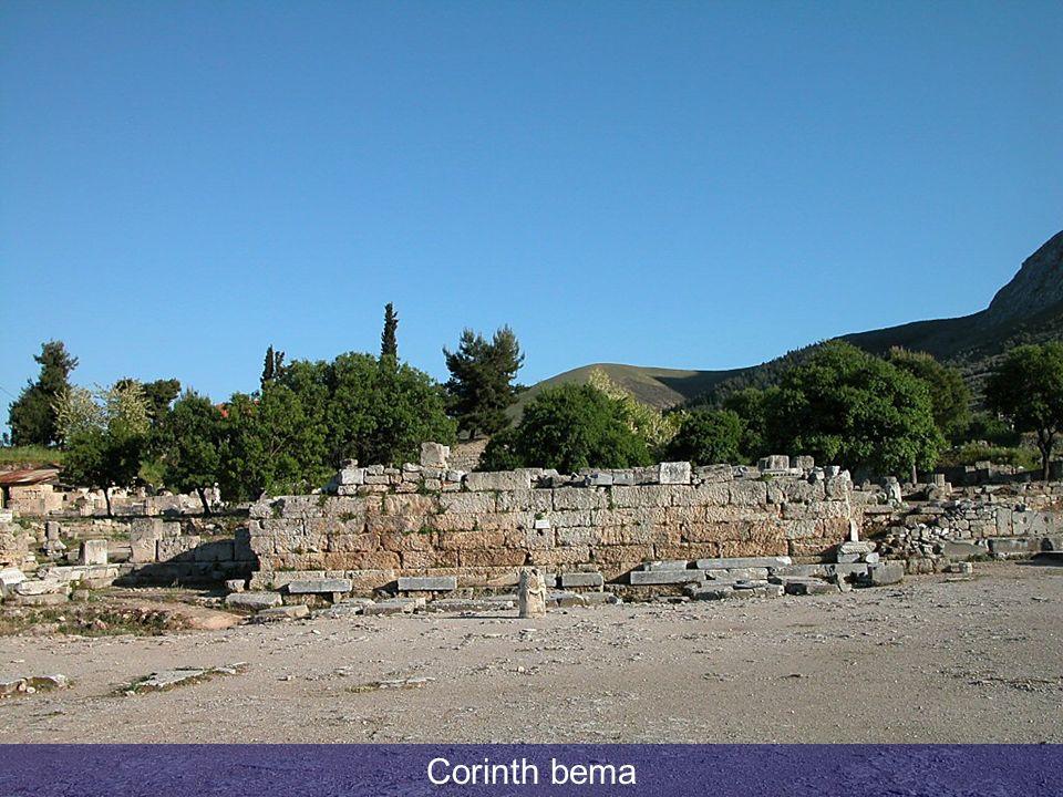 Corinth bema Corinth bema