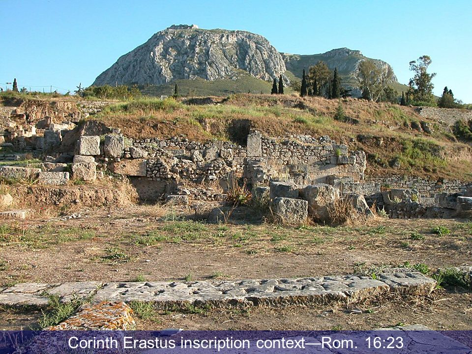 Corinth Erastus inscription context