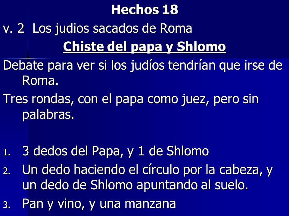 Chiste del papa y Shlomo