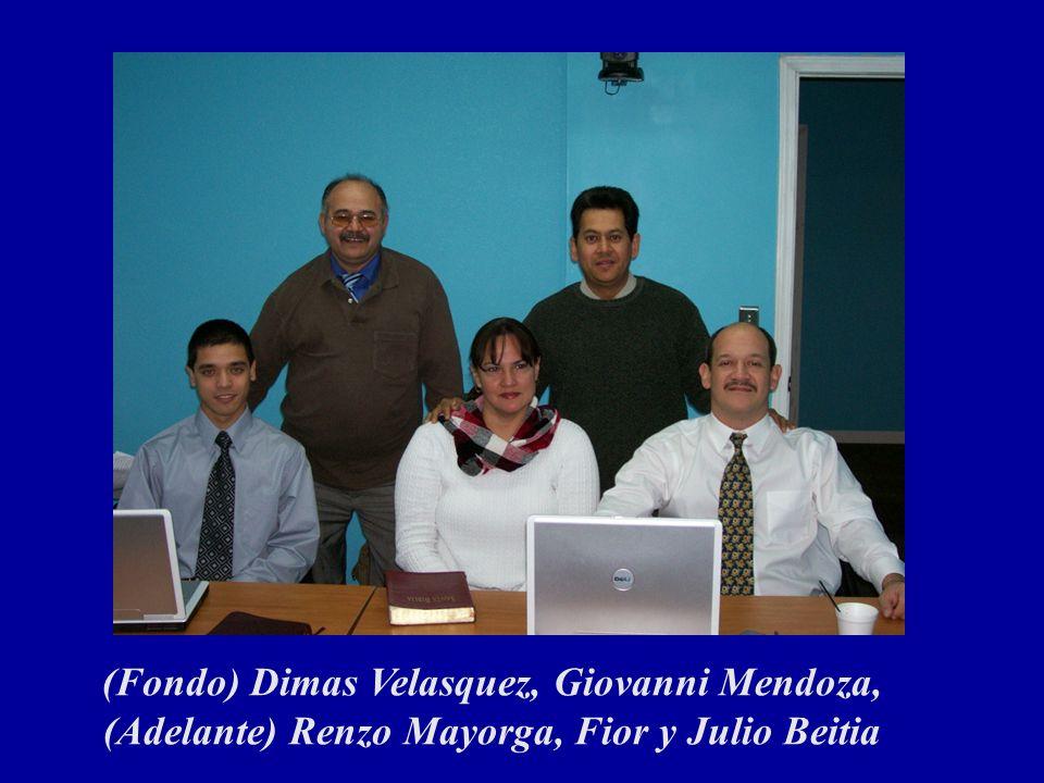 (Fondo) Dimas Velasquez, Giovanni Mendoza, (Adelante) Renzo Mayorga, Fior y Julio Beitia