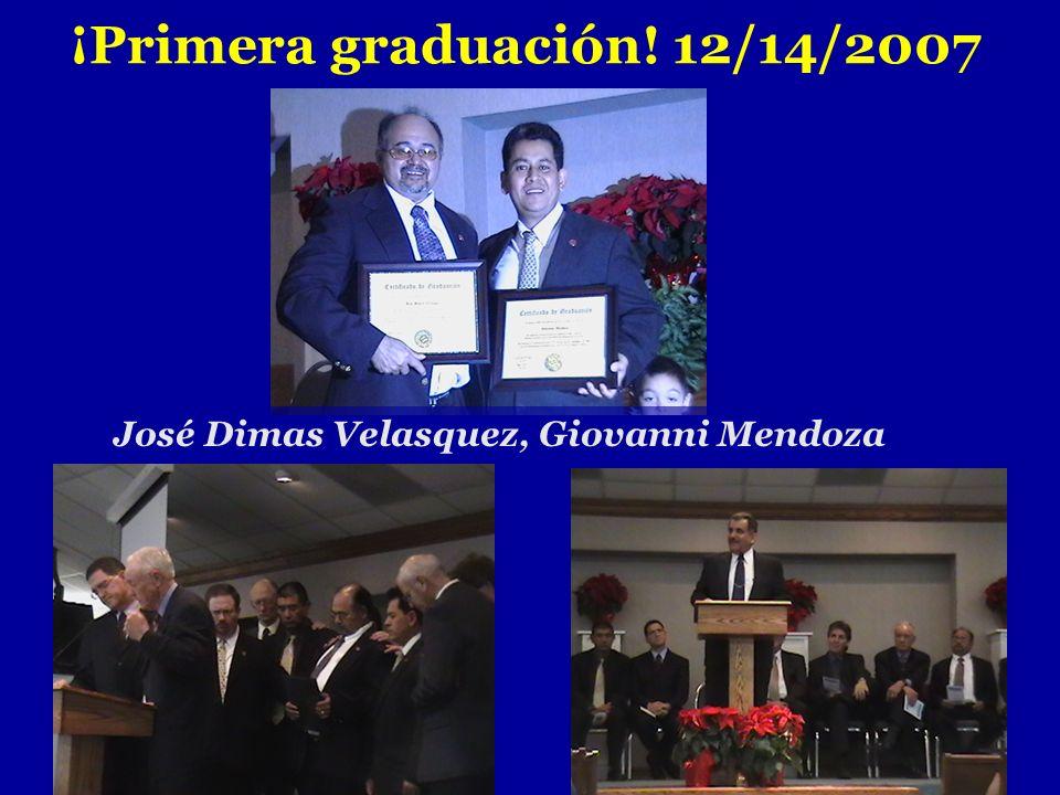 ¡Primera graduación! 12/14/2007
