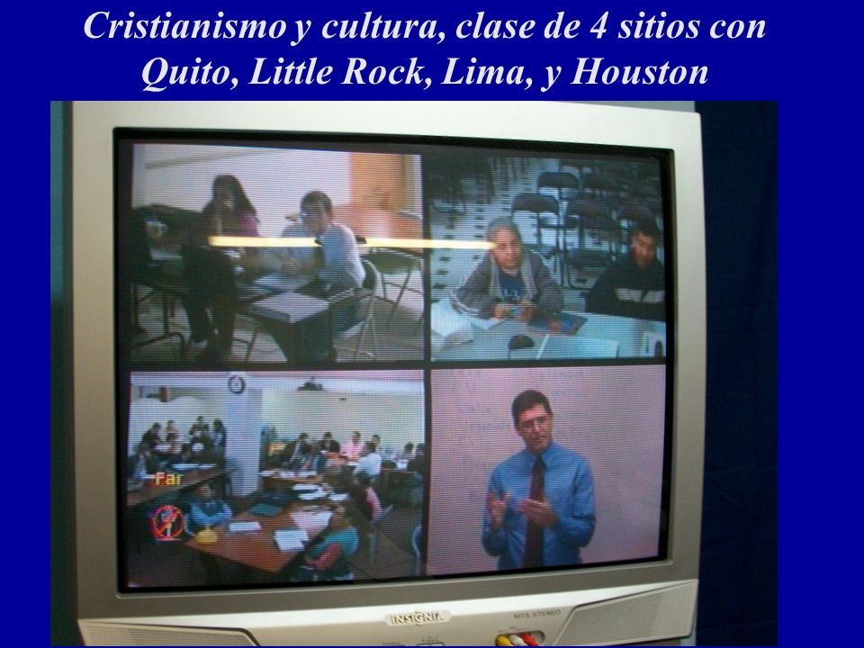Cristianismo y cultura, clase de 4 sitios con Quito, Little Rock, Lima, y Houston