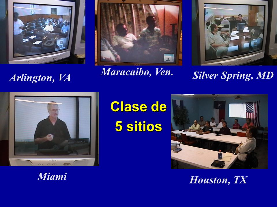Clase de 5 sitios Maracaibo, Ven. Silver Spring, MD Arlington, VA