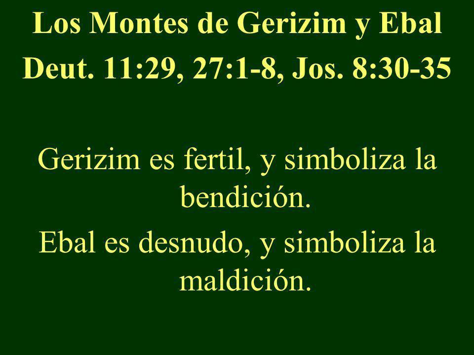 Los Montes de Gerizim y Ebal