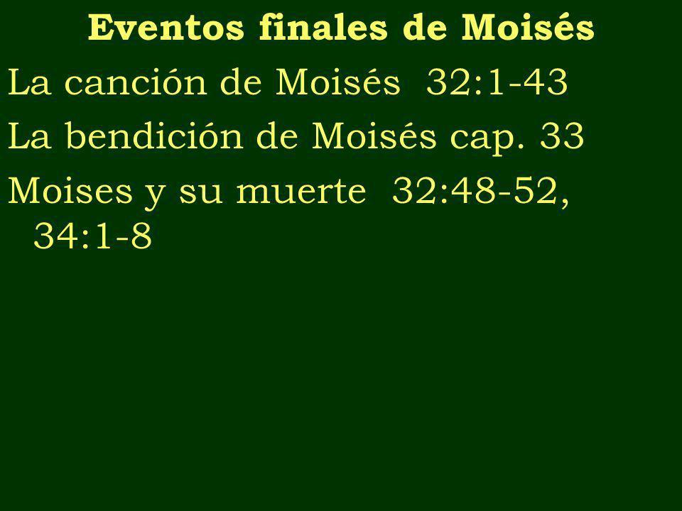 Eventos finales de Moisés