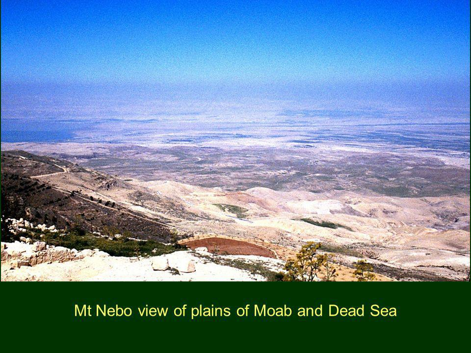 Mt Nebo view of plains of Moab and Dead Sea