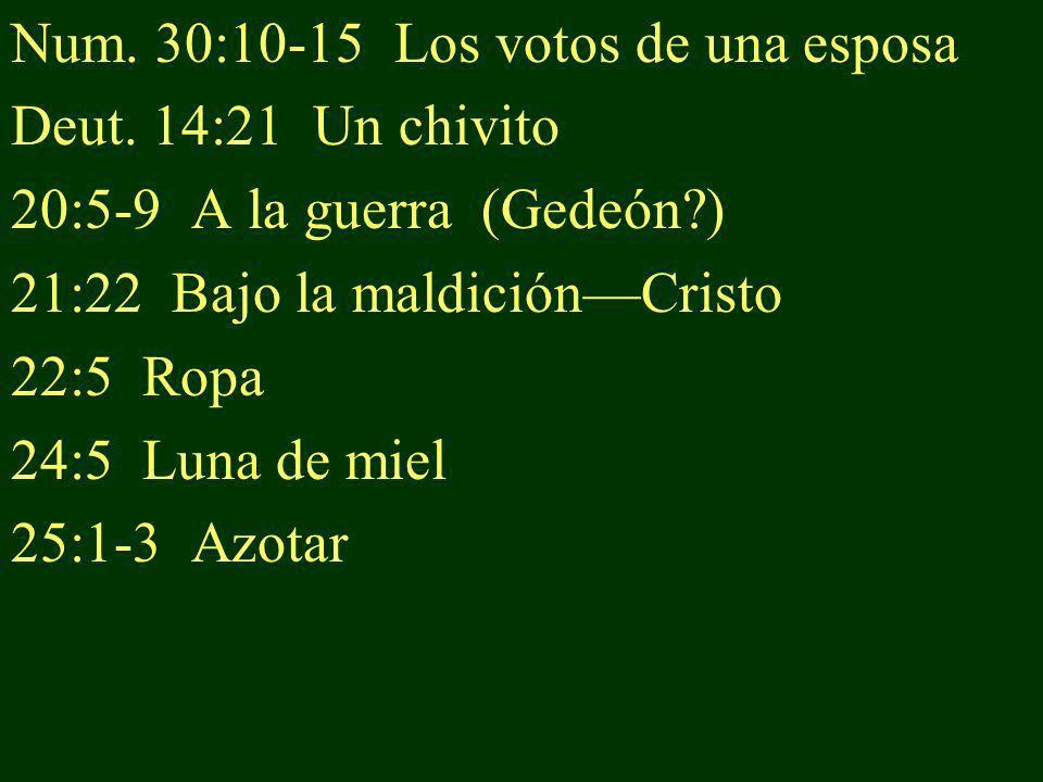 Num. 30:10-15 Los votos de una esposa