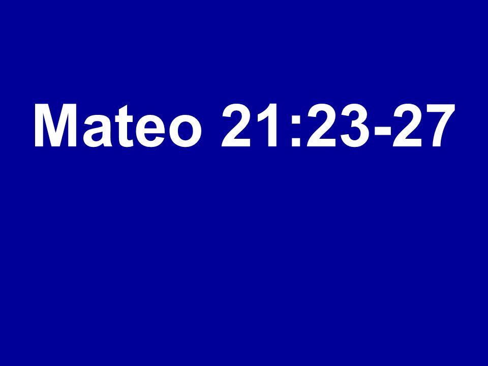 Mateo 21:23-27
