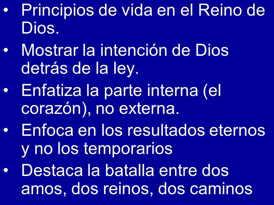 Principios de vida en el Reino de Dios.