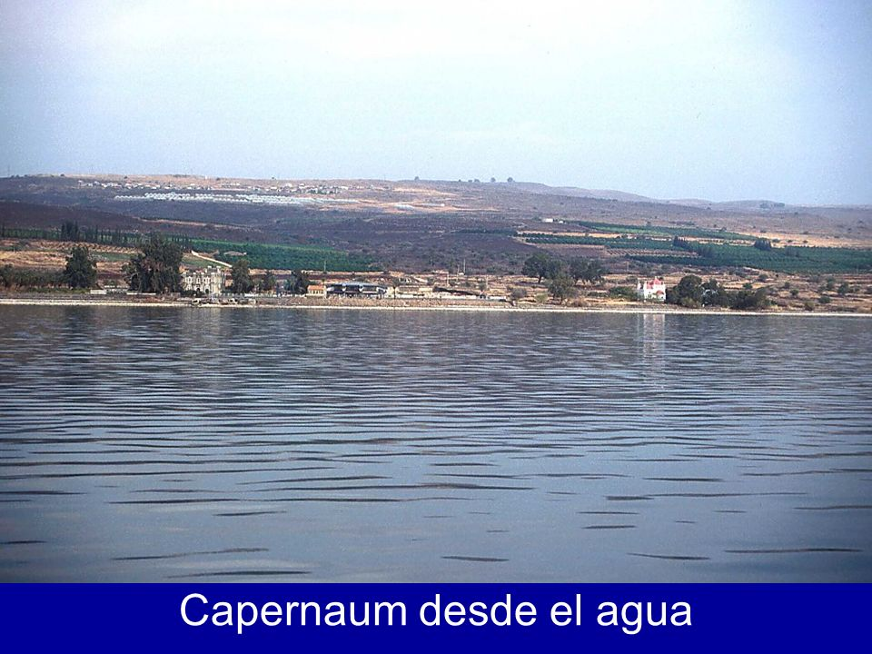 View of Capernaum from boat