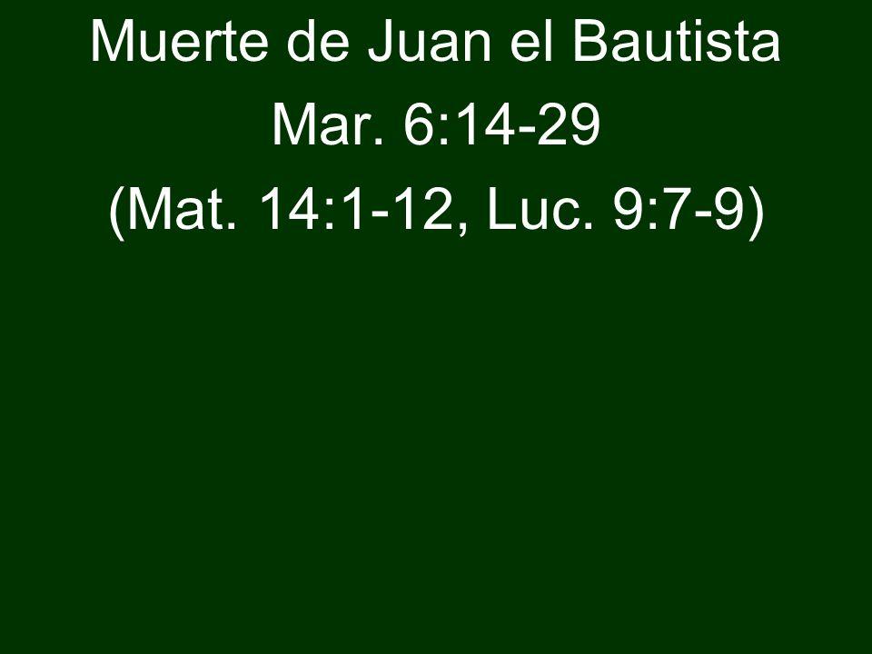 Muerte de Juan el Bautista