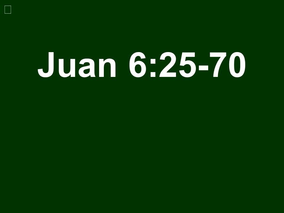 Juan 6:25-70