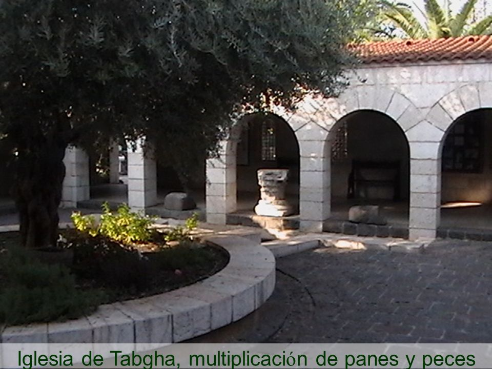 Iglesia de Tabgha, multiplicación de panes y peces