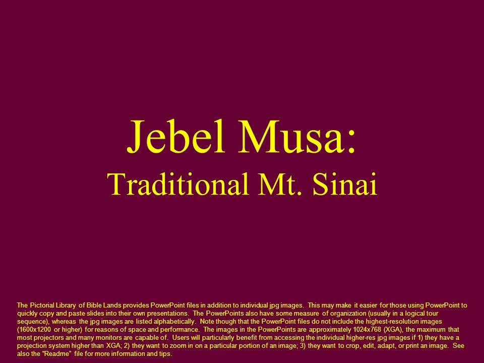 Jebel Musa: Traditional Mt. Sinai