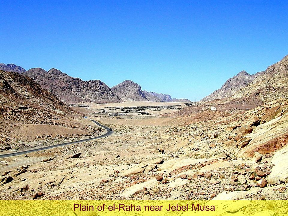 Plain of el-Raha near Jebel Musa