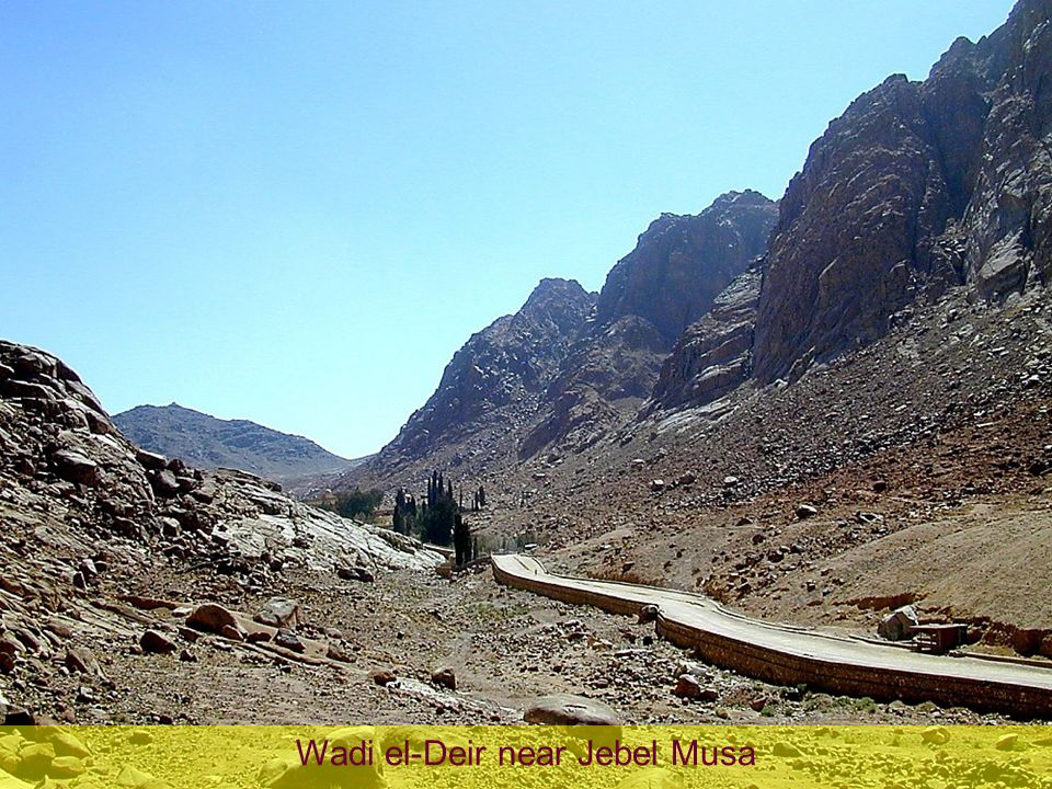 Wadi el-Deir near Jebel Musa