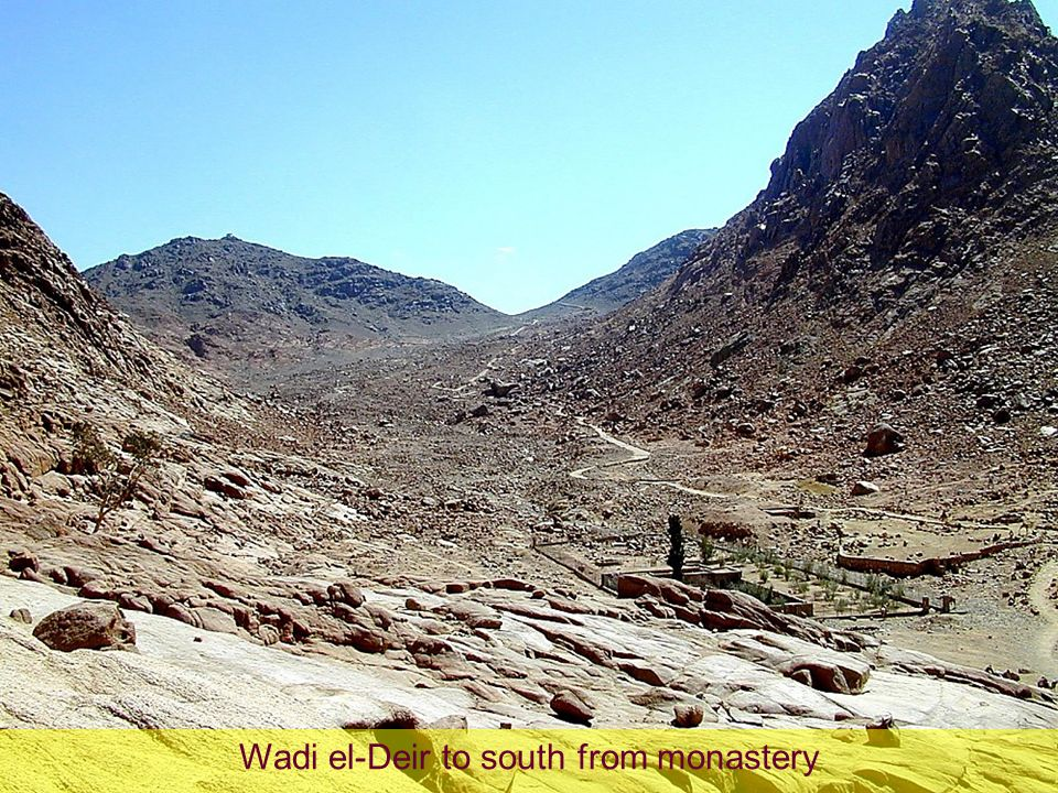 Wadi el-Deir to south from monastery