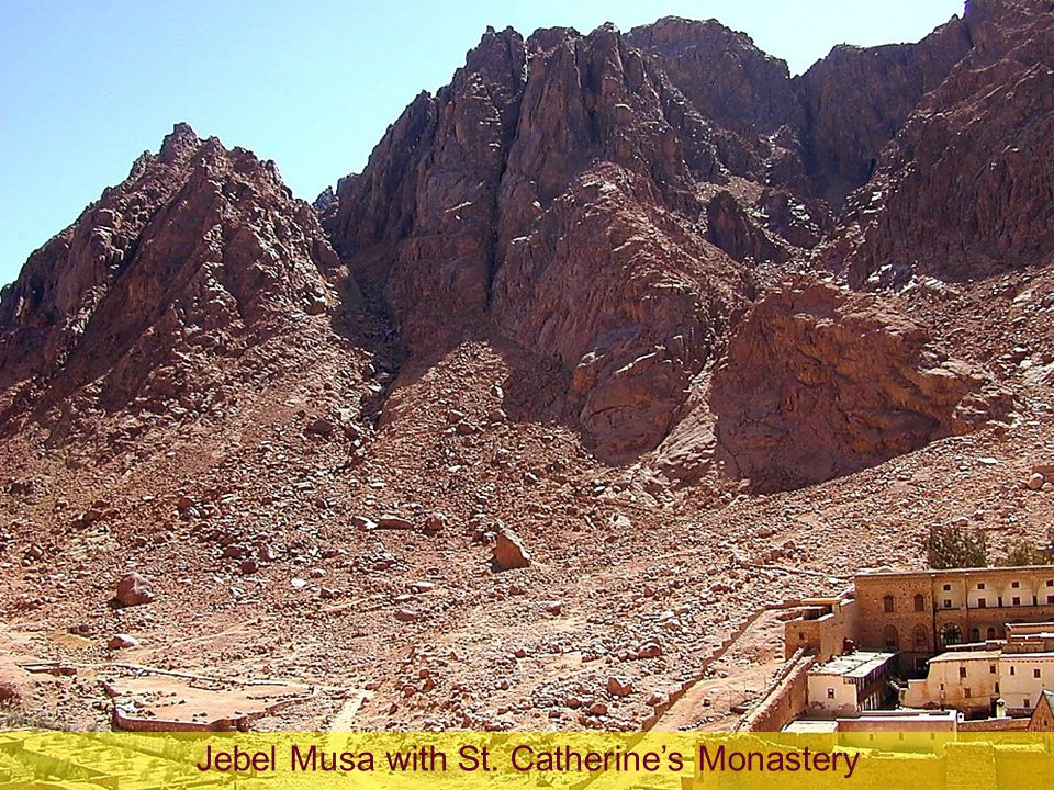 Jebel Musa with St. Catherine's Monastery