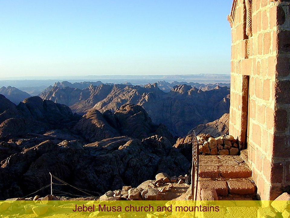 Jebel Musa church and mountains