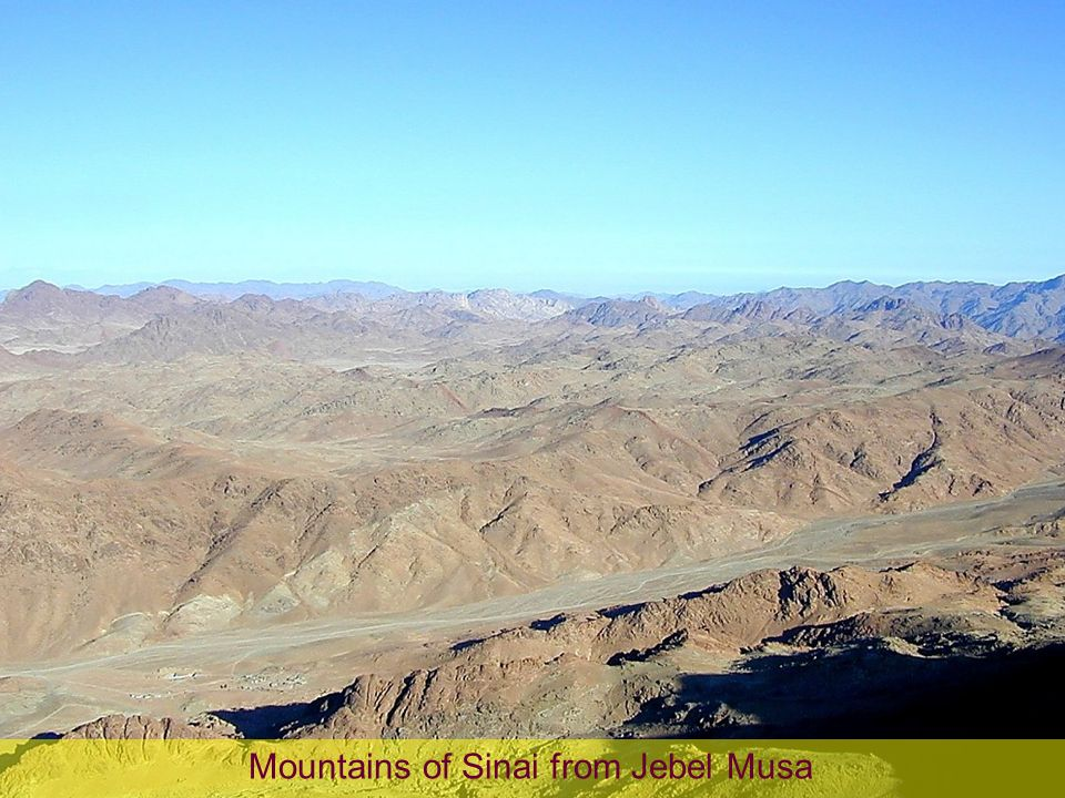 Mountains of Sinai from Jebel Musa