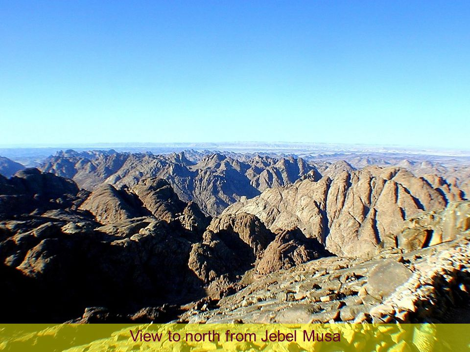 View to north from Jebel Musa