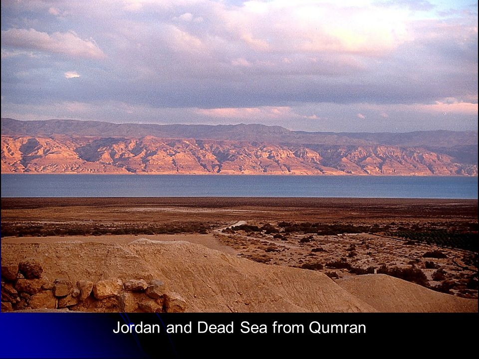 Jordan and Dead Sea from Qumran