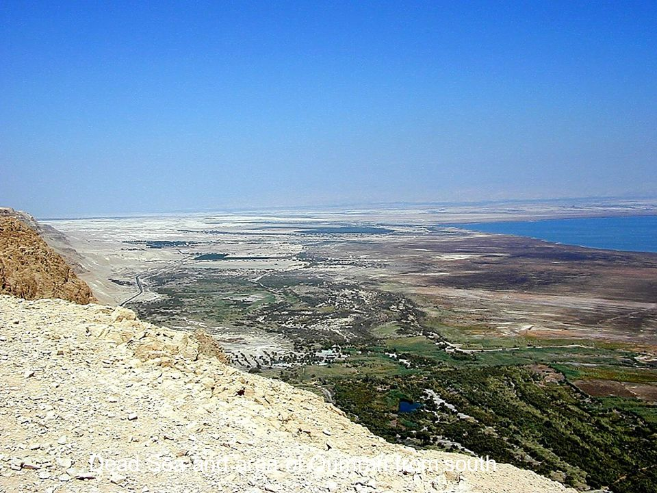 Dead Sea and area of Qumran from above