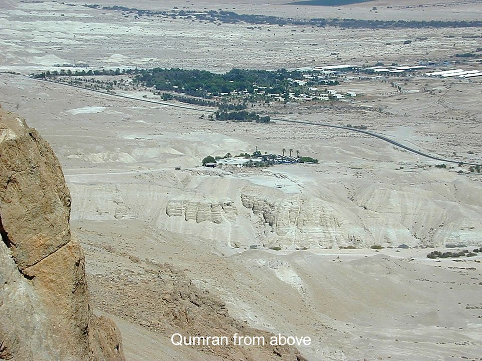 Qumran from above Qumran from above