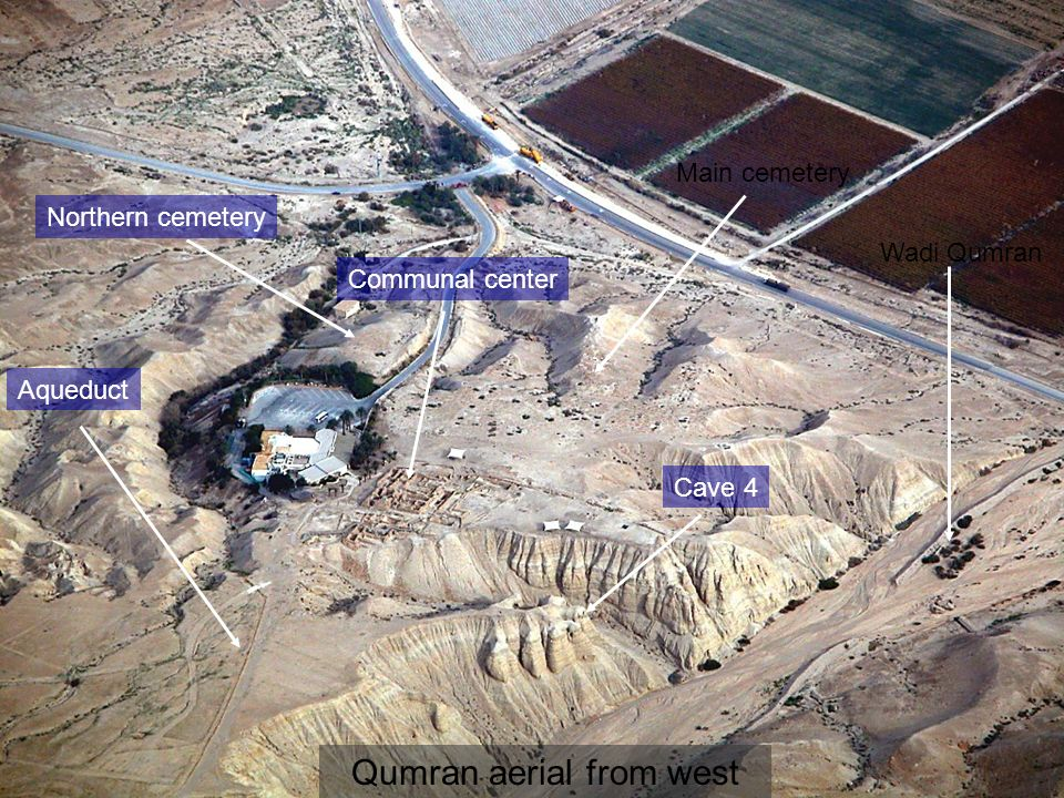 Qumran aerial from west