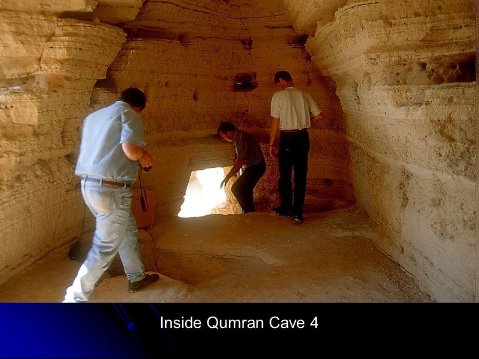 Inside Qumran Cave 4 Inside Qumran Cave 4