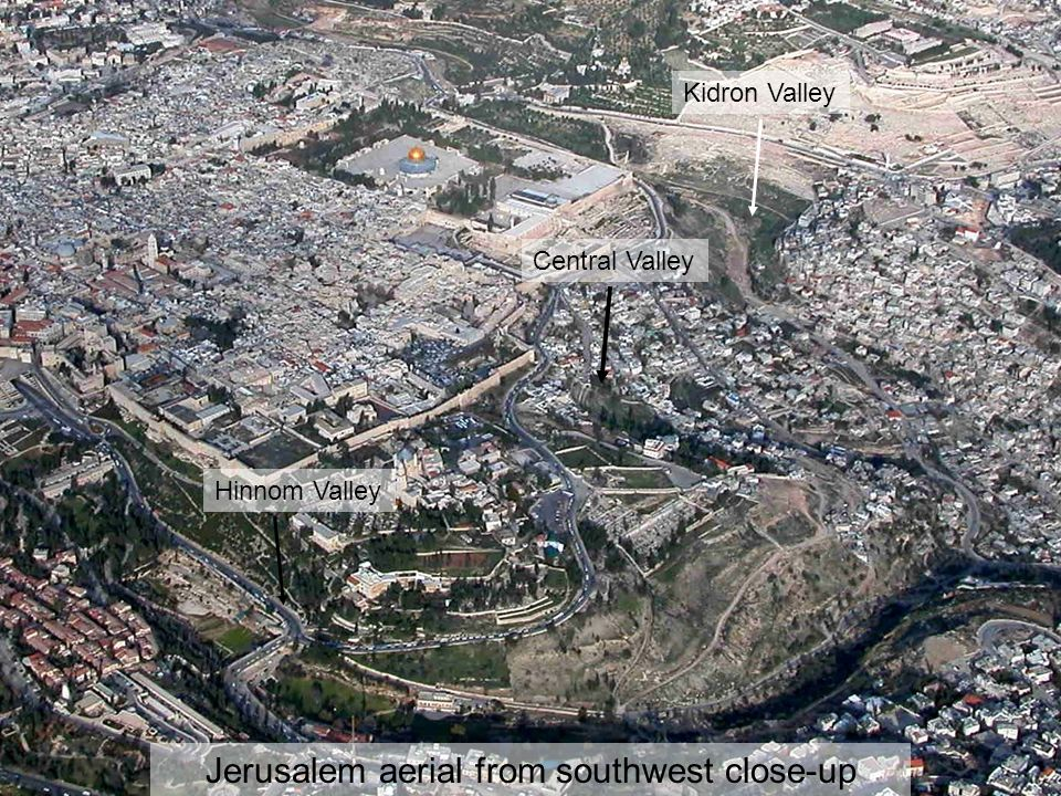 Jerusalem aerial from southwest close-up