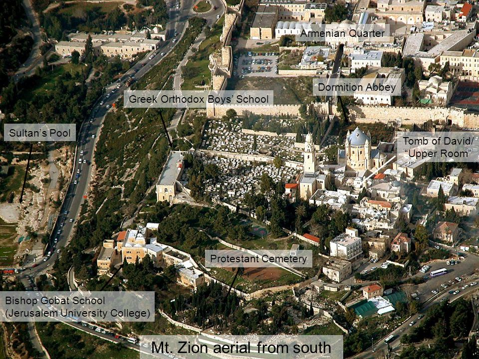 Mt. Zion aerial from south