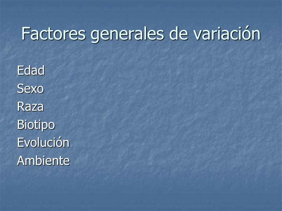 Factores generales de variación