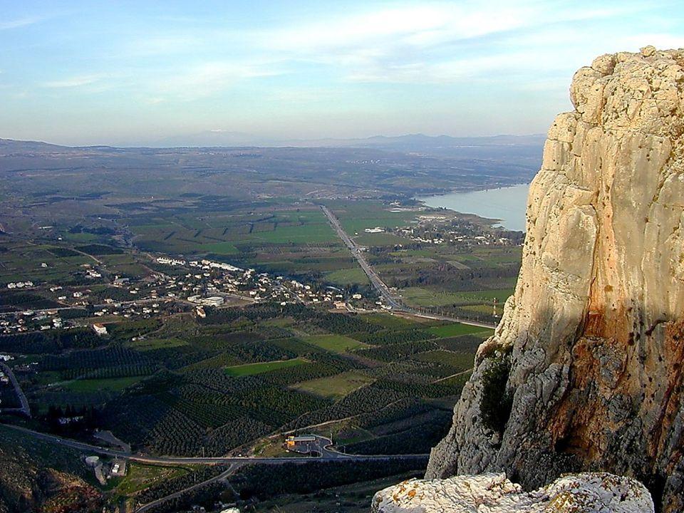 Arbel cliff and Plain of Gennesaret